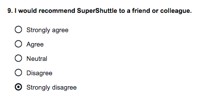 SuperShuttle satisfaction